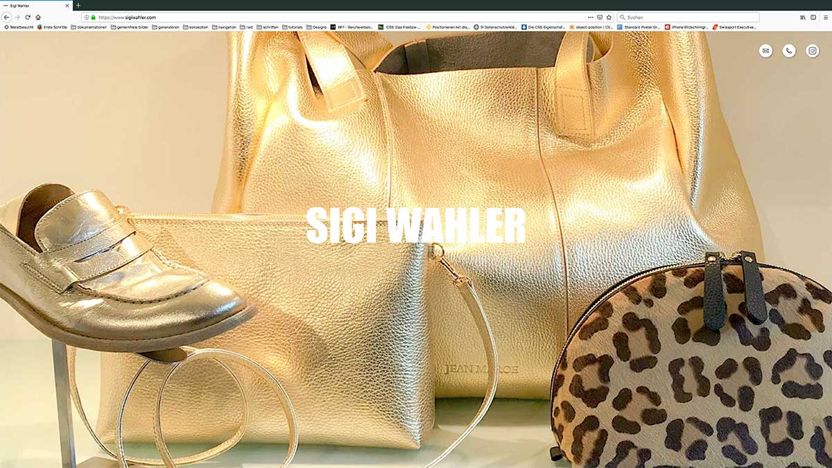 Screenshot Sigi Wahler Webseite index